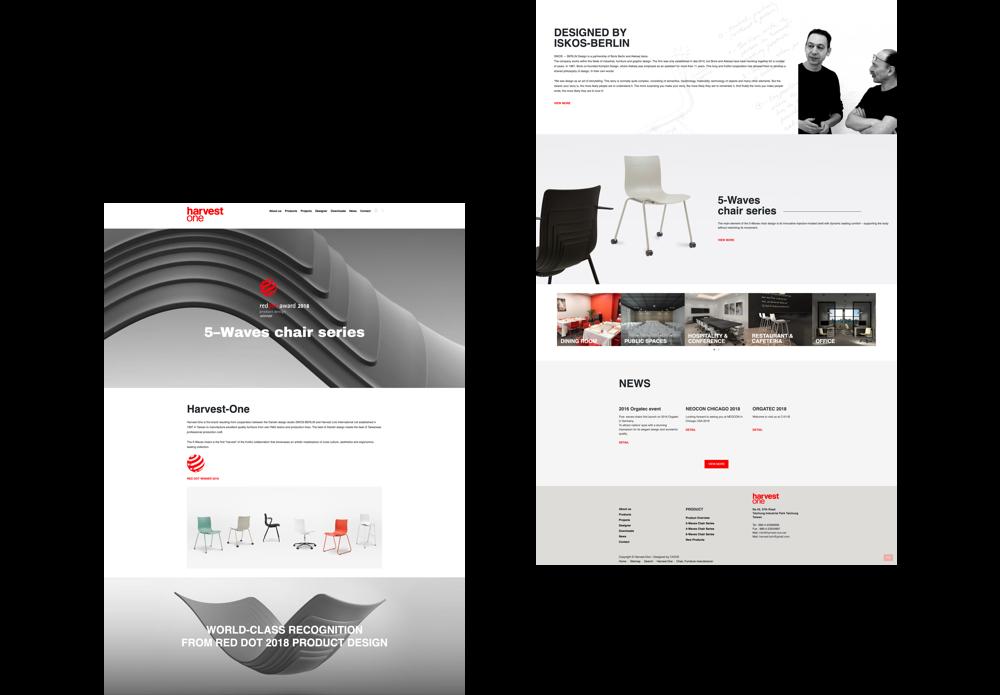 北歐品牌形象網站設計案例